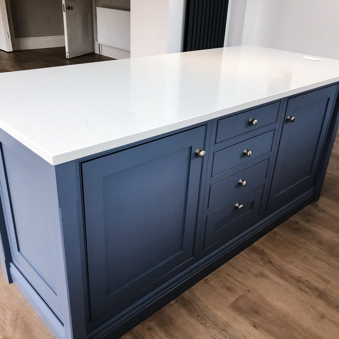 Large Island with Parting Bead and shaker doors