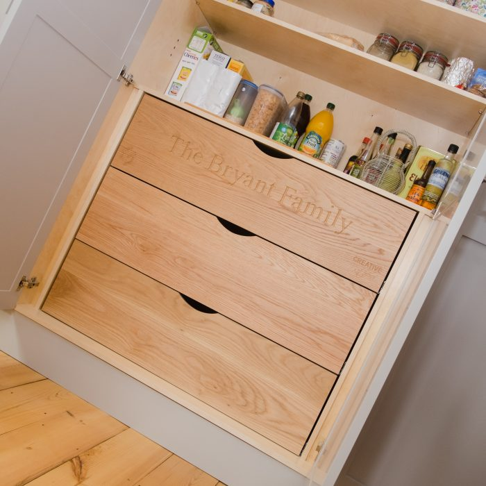 Solid Oak Pantry Drawers