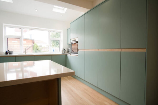 Contemporary Duck egg Kitchen