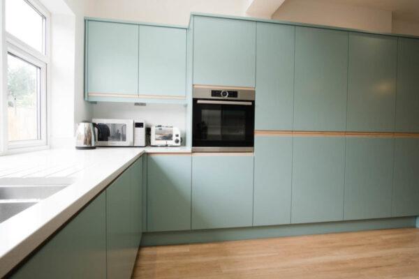 Contemporary Duck egg Kitchen 2