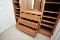 Oak Walk in Wardrobe with Vanity