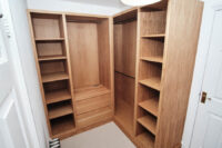Oak Walk in Wardrobe with Vanity 2