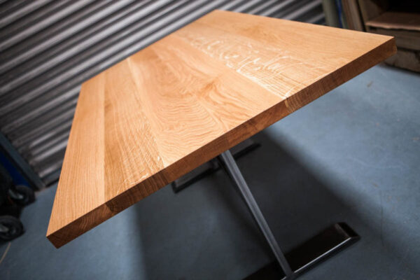 Oak Dinning table and storage bench seating