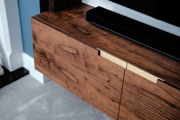 Walnut and White Floating Alcove 3