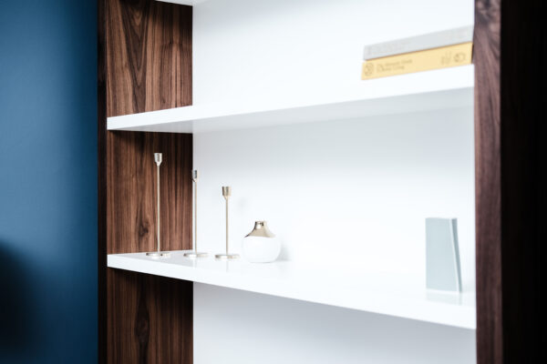 Walnut and White Floating Alcove 2