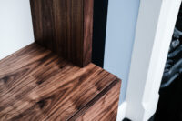 Walnut and White Floating Alcove 1