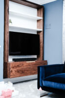 Walnut and White Floating Alcove 0