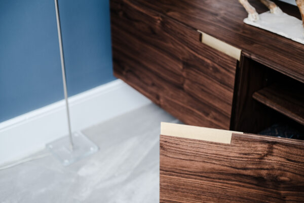Walnut and White Floating Alcove 8