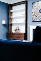 Walnut and White Floating Alcove 4