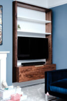 Walnut and White Floating Alcove 6