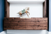 Walnut and White Floating Alcove 7