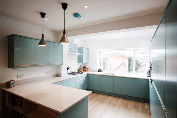 Contemporary Duck egg Kitchen 4