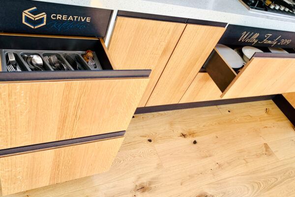 Oak and Black Modern Kitchen